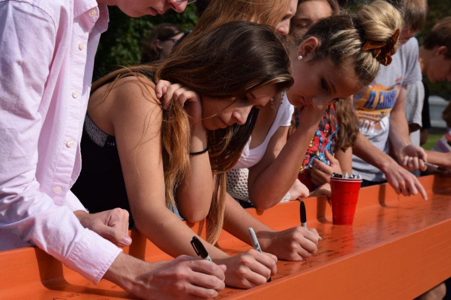 Beam Signing Adds Structure, History to New Intermediate School
